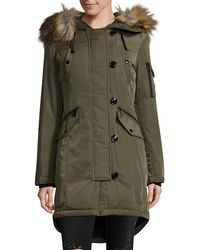 MICHAEL Michael Kors - Button Front Hooded Jacket - Lyst