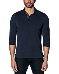Jared Lang - Long-sleeve Stretch Polo - Lyst