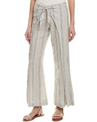 4our Dreamers - Tie-front Linen-blend Pant - Lyst