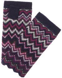 Forte - Forte Women's Cashmere Zig Zag Gloves - Lyst