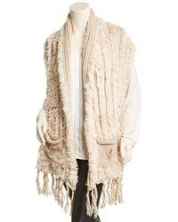 Belle Fare - Knitted Wool-blend Vest - Lyst