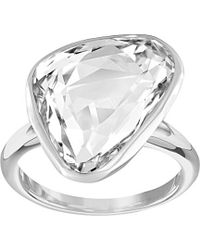 Swarovski - Crystal Plated Crush Ring - Lyst
