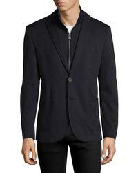 Hart Schaffner Marx - Broderick Technical Outerwear Jacket With Detachable Knit Bib - Lyst