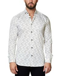 Maceoo - Luxor Funky Triangle Slim Fit Shirt - Lyst
