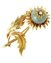 Heritage Tiffany & Co. - Tiffany & Co. 18k Diamond & Jade Brooch - Lyst