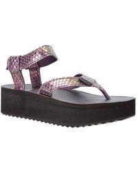 Teva - Women's Flatform Leather Sandal - Lyst