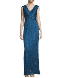 Adrianna Papell - Sleeveless V-neck Gown - Lyst