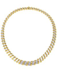 Roberto Coin - 18k Two-tone 1.70 Ct. Tw. Diamond Necklace - Lyst
