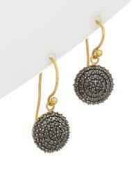 Gurhan - Lentil 18k & 24k 1.30 Ct. Tw. Black Diamond Drop Earrings - Lyst