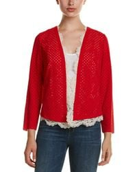 Tracy Reese - Lace-trim Cardigan - Lyst