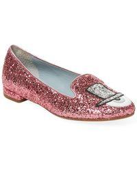 Chiara Ferragni - Eye Detail Glitter Loafers - Lyst