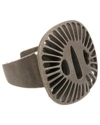 Valentino - Brass Abstract Ring - Lyst