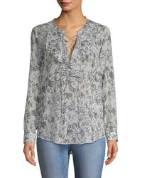 The Kooples - Baroque Printed Blouse - Lyst