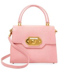 Dolce & Gabbana - Welcome Embossed Leather Satchel - Lyst