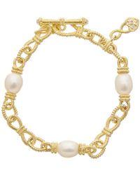 Judith Ripka - 14k Over Silver 12.79 Ct. Tw. Gemstone & Pearl Bracelet - Lyst