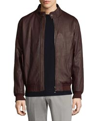 Ermenegildo Zegna - Leather Bomber Jacket - Lyst