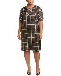 20923bb40a7 Marina Rinaldi - Plus Decaedro Silk Shift Dress - Lyst