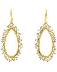 Melinda Maria - 18k Plated Cz Drop Earrings - Lyst