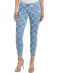 Kut From The Kloth - Connie Blue & White Ankle Skinny Leg - Lyst