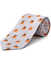 Cole Haan - Silver Cool Crab Silk Tie - Lyst