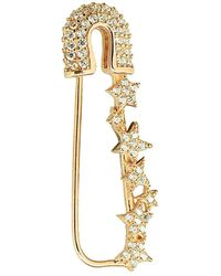 Gabi Rielle - 22k Over Silver Cz Safety Pin Earring - Lyst