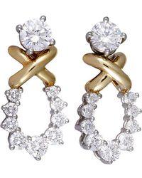 Heritage Tiffany & Co. - Tiffany & Co. 18k & Platinum 1.65 Ct. Tw. Diamond Studs - Lyst