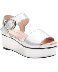 Avec Les Filles - Audra Platform Wedge Sandal - Lyst