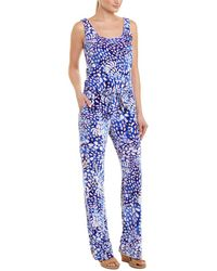 d74ade4652c7 Lilly Pulitzer  deanna  Belted V-neck Romper - Lyst