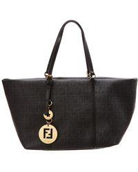 862b16a9c861 Lyst - Fendi Zucchino Shoulder Bag - Vintage in Black