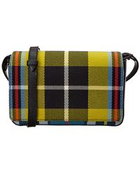 Burberry - Tartan Canvas & Leather Wallet On Chain - Lyst