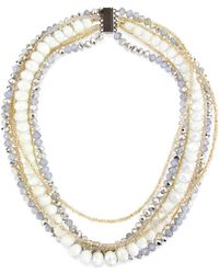 Saachi - Layered Beaded Necklace - Lyst