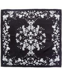 Givenchy - Flower Print Silk Scarf - Lyst