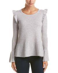 Quinn - Qi Cashmere Peplum Sweater - Lyst
