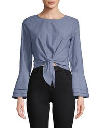 Likely - Chambray Bell Sleeve Top - Lyst