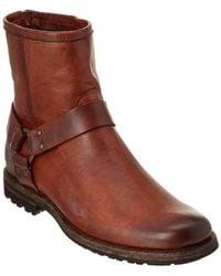 Frye - Men's Phillip Lug Harness Leather Boot - Lyst