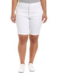 NYDJ - Plus Briella Optic White Short - Lyst
