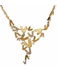 Versace - 18k 0.88 Ct. Tw. Diamond Necklace - Lyst