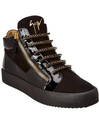 Giuseppe Zanotti - Kriss Sparkle Leather Trainer - Lyst