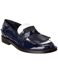 Burberry - Tri-tone Kiltie Fringe Patent Loafer - Lyst
