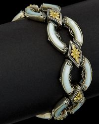 Konstantino - Ismene 18k & Silver 28.00 Ct. Tw. Turquoise & Mother-of-pearl Bracelet - Lyst