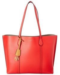 0fda5de571 Tory Burch - Perry Triple Compartment Leather Tote - Lyst