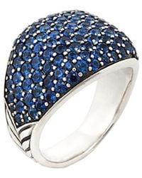 David Yurman - David Yurman Cable Silver 8.00 Ct. Tw. Sapphire Ring - Lyst