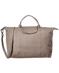 Longchamp - Le Pliage Cuir Large Leather Tote - Lyst