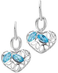 Di Modolo - Silver Topaz Heart Earrings - Lyst