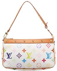 Louis Vuitton - White Monogram Multicolore Canvas Pochette Accessoires - Lyst