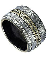Stephen Webster - Silver & Rhodium 1.35 Ct. Tw. Diamond & Sapphire Ring - Lyst
