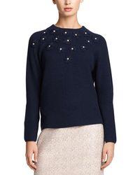 Draper James - Lee Embellished Mockneck Sweater - Lyst
