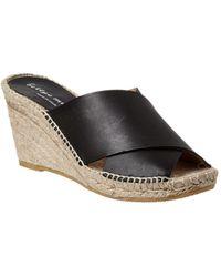 Bettye Muller - Dijon Leather Wedge Sandal - Lyst