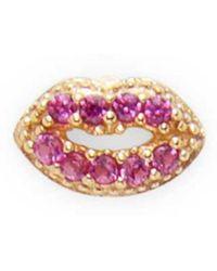 Marc By Marc Jacobs - Jewelry Lips Single Stud Earring - Lyst