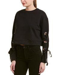 Lea & Viola - Ribbon & Grommet Sweatshirt - Lyst